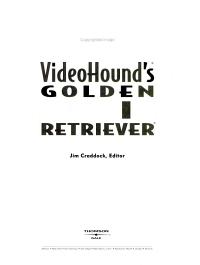 VideoHound s Golden Movie Retriever PDF