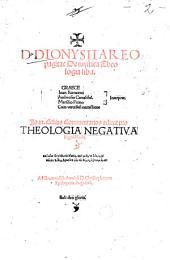 De mystica Theologia