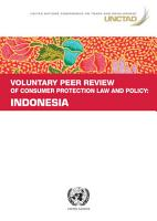 Voluntary Peer Review of Consumer Protection Law and Policy  Indonesia PDF