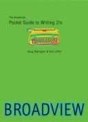 The Broadview Pocket Guide to Writing  second edition