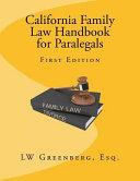 California Family Law Handbook for Paralegals PDF