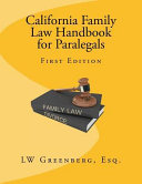 California Family Law Handbook for Paralegals PDF