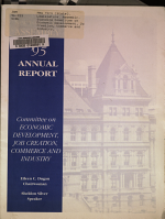 Annual Report of the New York State Assembly Standing Committee on Economic Development  Job Creation  Commerce and Industry PDF