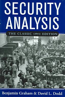 Security Analysis  The Classic 1951 Edition