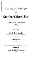 Sammlung der Entscheidungen des Ober Appellationsgerichts der Freien Hansest  dte zu L  beck PDF