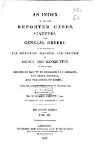 An Index to All the Reported Cases  Statutes and General Orders PDF