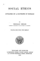 Social Ethics: Outlines of a Doctrine of Morals