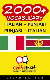 2000+ Italian - Punjabi Punjabi - Italian Vocabulary