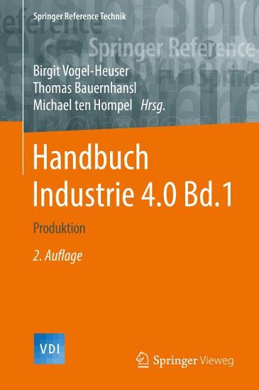 Handbuch Industrie 4 0 Bd 1 PDF
