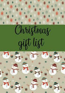 Christmas Gift List  Notebook to Make Your Christmas List  Gifts You Are Going to Purchase for Everyone  7  X10   110 Line Pages PDF