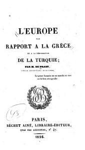 L'Europe par rapport à la Grèce et à la réformation de la Turquie