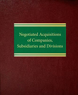 Negotiated Acquisitions of Companies  Subsidiaries and Divisions PDF