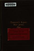 Annual Report  Treasurer of the State of New Jersey     PDF