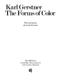 The Forms of Color Book