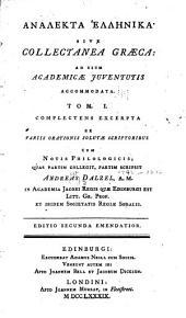 Collectanea Graeca: Volume 1