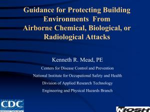 Guidance for Protecting Building Environments from Airborne Chemical  Biological  Or Radiological Attacks PDF
