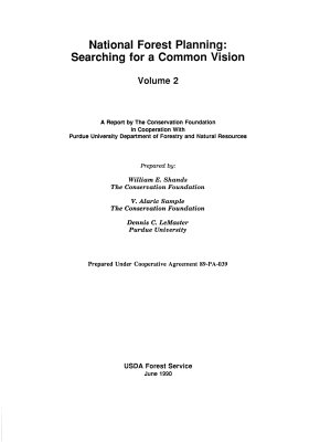 Critique of Land Management Planning  National forest planning  searching for a common vision PDF