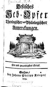 Hessisches heb-opfer theologischer und philologischer anmerckungen ...