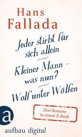 Jeder stirbt für sich allein / Kleiner Mann – was nun? / Wolf unter Wölfen: Drei Romane in einem E-Book