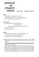 Journal of Church Music PDF