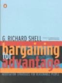 Bargaining for Advantage Book