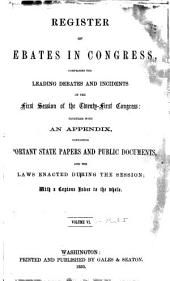 Debates in Congress: Volume 6; Volume 50
