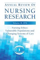 Annual Review of Nursing Research  Volume 34  2016 PDF