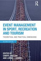 Event Management in Sport  Recreation and Tourism PDF
