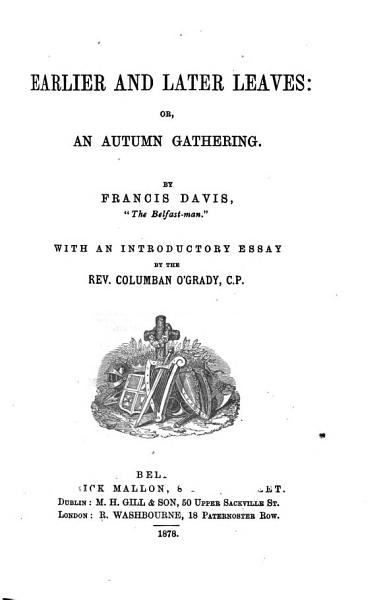 Download Earlier and Later Leaves  Or  An Autumn Gathering Book