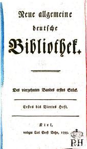 Neue allgemeine deutsche Bibliothek: Band 14