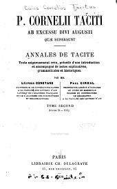 Annales de Tacite: Texte soigneusement rev., precedé d'une introduction et accompagné de notes explicatives ...