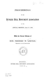 Proceedings of the Bunker Hill Monument Association, at the Annual Meeting ...