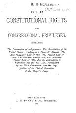 Our Constitutional Rights and Congressional Privileges PDF