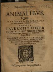 Disputatio Philosophica De Animalibus