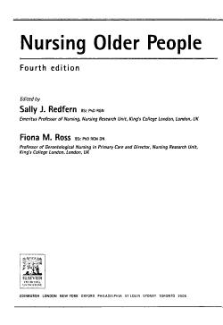 Nursing Older People PDF