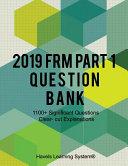 2019 FRM Part 1 Question Bank
