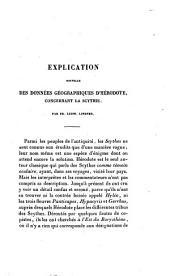 Explication nouvelle des données géographiques d'Hérodote, concernant la Scythie