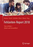 Fehlzeiten Report 2018 PDF