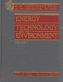 Encyclopedia of Energy Technology and the Environment  Volume One PDF