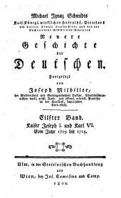 Neuere Geschichte der Deutschen: Kaiser Joseph I. und Karl VI : vom Jahr 1709 bis 1715, Band 11