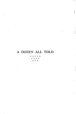 A Dozen All Told PDF