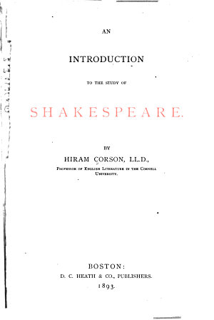 An Introduction to the Study of Shakespeare PDF