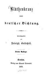 Blüthenkranz neuer deutscher Dichtung