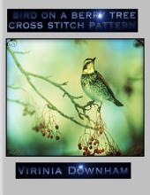 Bird on a Berry Tree Cross Stitch Pattern