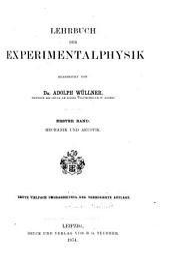 Lehrbuch der Experimentalphysik: Band 1