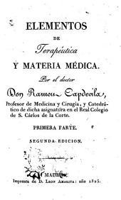 Elementos de terapéutica y materia médica