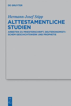 Alttestamentliche Studien PDF