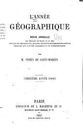 L'Année géographique: Volumes5à6