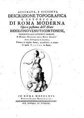 Accurata e succinta descrizione topografica e istorica di Roma moderna, opera postuma