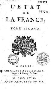 Etat de la France, contenant les princes, ducs et pairs... par Louis Trabouillet